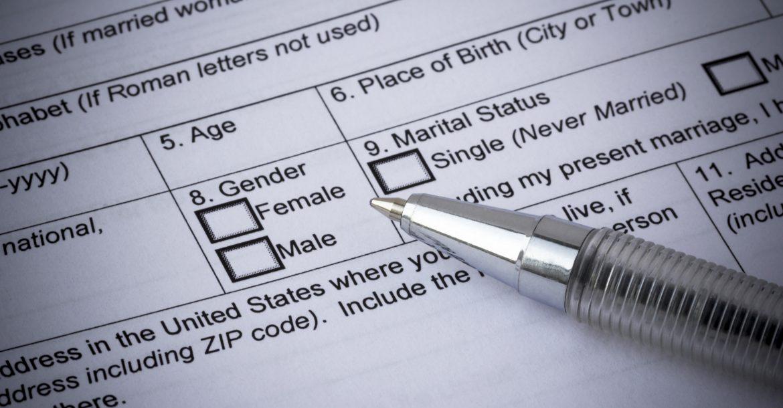 Selection Of Gender In Application Form