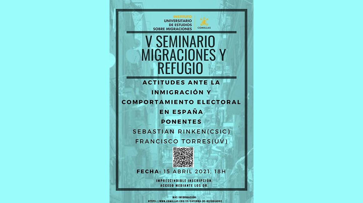 V Seminario Migraciones Y Refugio Con Las Intervenciones De Sebastian Rinken (iesa Csic) Y Alvaro Torres (uv)